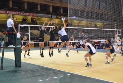 Westmont vs. Columbia (Mo.) at NAIA National Championships (Courtesy Cindy Potter)