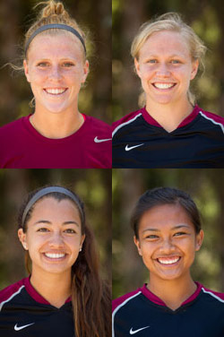 2013 NAIA All-Americans: Lindsey Smith, Alison Hensley, Amanda Diesen, Tiffany Dimaculangan