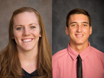 Kelsie Sampson and C.J. Miller were each named GSAC Basketball Player of the Week
