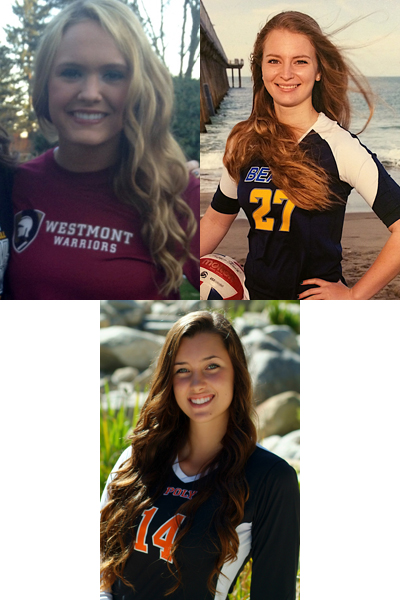 Taylor Beckman (left), Mila Maricic (right), Lindsay Paulo (below)