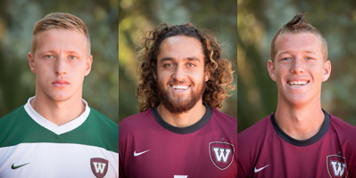 All-GSAC honorees Joshua Glover, Muhammad Mehai, Tanner Wolf. (left to right)