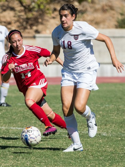 Sophie Fuller in last year's game against Biola