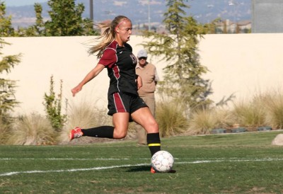 Brooke Lillywhite scored the first goal of the game.