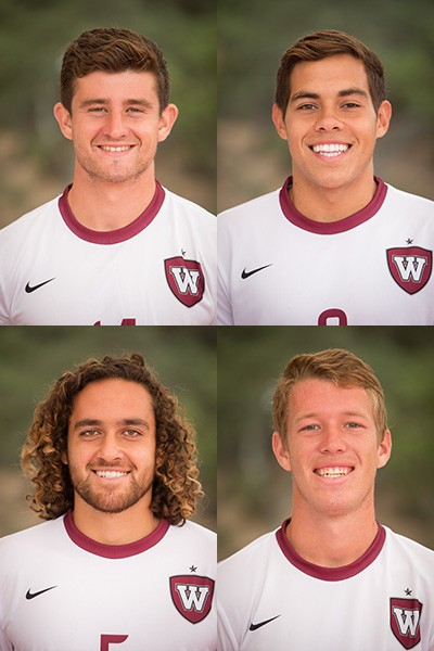 All-GSAC selections Blake Joyner, Wilton Quintero, Muhammad Mehai and Tanner Wolf.