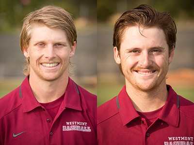 NAIA Preseason All-Americans Alex Bush (1B) and Ryan Crowe (C)