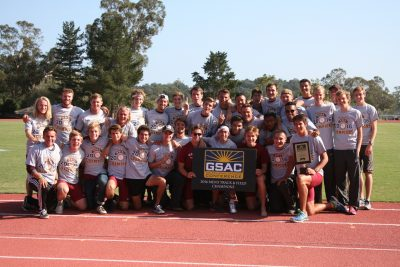 GSAC Champions - Westmont Men's Track and Field.