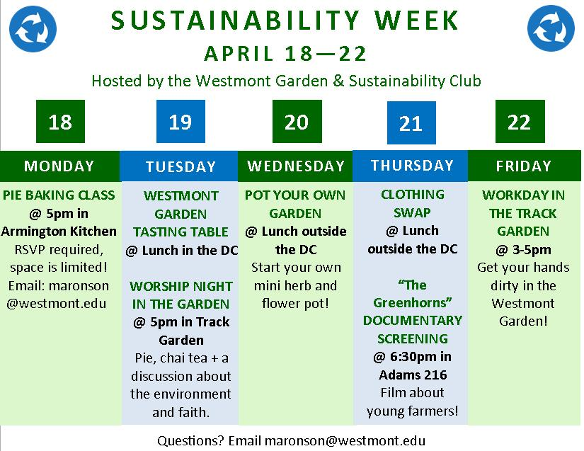 Sustainability Week Flyer_Westmont
