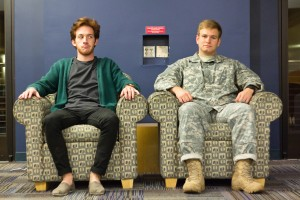 He's a fighter, for sure: Matt drops out of school to join the army