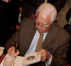 McCullough signing books