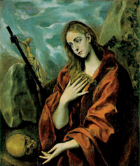 El Greco depiction of Mary Magdalene