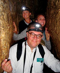Bill Nelson explores Hezekiah's Tunnel in  Jerusalem