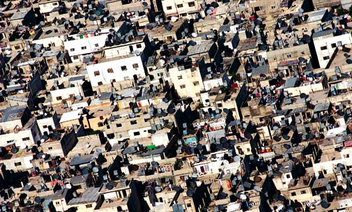Aerial view of residential Palestine