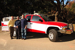 The new pumper truck will help protect the campus in future fires.