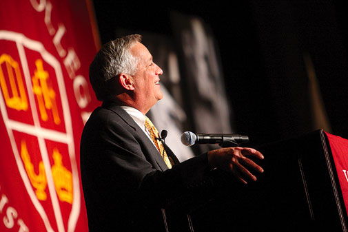 Walter Isaacson addressed more than 750 people at the President's Breakfast.