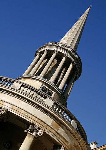 He served as a minister at London's All Souls Church, Langham Place, designed by famed architect John Nash (above).