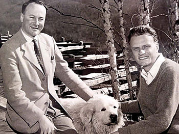 John Stott with Billy Graham. Photo courtesy of John Stott Ministries.