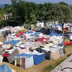 A tent village in Haiti
