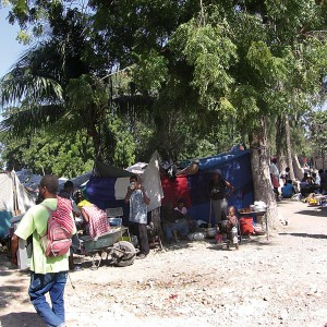 Haiti camp site