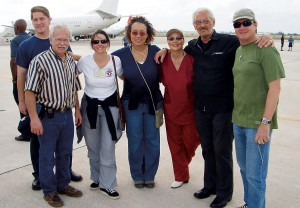 Left to right: Jason Friesen '02, Luke Weaver, Jenise Steverding '97, Cozette Lyons-Jones, Cher and Norm '61 Nelson, and Tom McCoy
