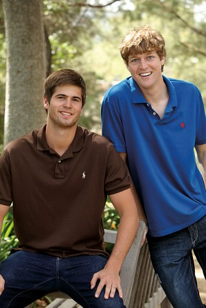 Robert Fenske and Zachary Spangler will work as interns this summer for Nestle