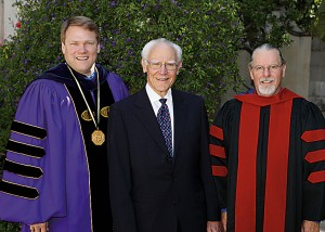 President Beebe, Michael Towbes and Richard J. Foster