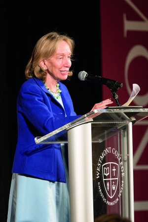 Pulitzer Prize-winning historian Doris Kearns Goodwin spoke at the 2015 Westmont President's Breakfast in March.