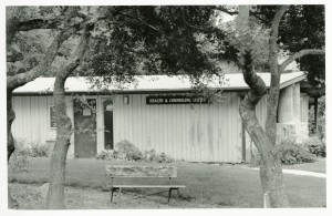 An undated photo of the Health Center likely from the 1980s