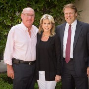 David and Anna Grotenhuis with Westmont President Gayle Beebe