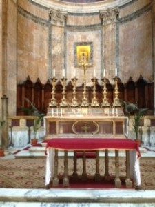 """The Altar in """"Mary and the Christian Martyrs"""""""