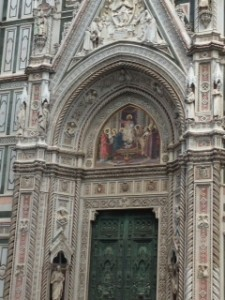 Main entry to Duomo in Florence.