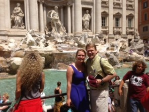 Trevi Fountain with a member of the class of 2017!