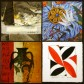 Artwork by (clockwise from top left) Mary Heebner, Penelope Gottlieb, Charles Arnoldi and Squeak Carnwath.