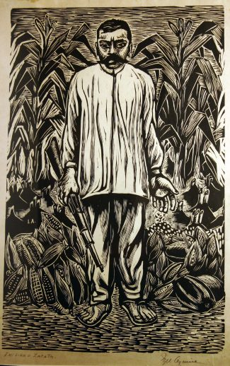 """Emiliano Zapata, the Great Leader of the Revolutionary Peasant Movement"" by Ignacio Aguirre, 1948. From the collection of Gil Garcia and Marti Correa de Garcia."