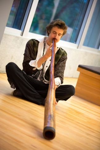Didgeridoo musician William Thoren