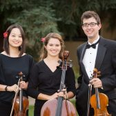 Madison Martin, Rebecca Shasberger and Isaac Kay perform March 2 with the Siloam quartet
