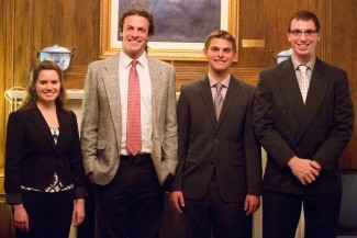 Finalists Rebeccas Shasberger, Seth Gruber, Riley Svikhart and Michael Deiana