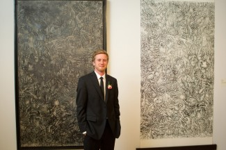 Charles Goodman '12 shows off his work last year