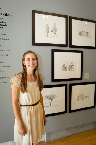 Natalie Hall '12 exhibits her art in last year's senior show