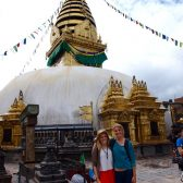 Tyler Merkel and Kelsey Canon in Nepal as part of Emmaus Road 2012