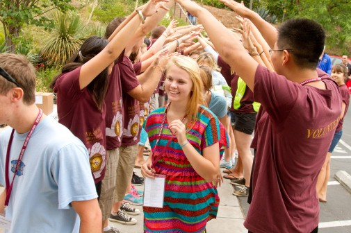 The OrientationTeam welcomes new students and their families