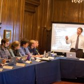 President Gayle D. Beebe teaches a course in executive leadership