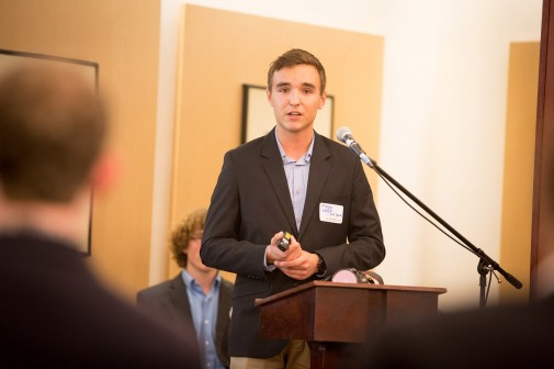 Filipp Kozachuk '14 presents his plan, LEEF