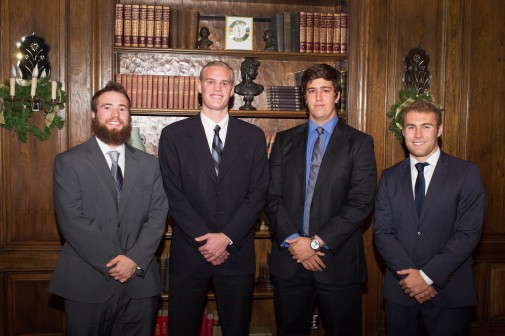 Students Taylor Bartlett, Tommy Knapp, Gregg Sanchez and Jake Allbaugh won with their business plan Watermark