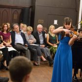 Violinist Lalia Mangione of Belmont, Mich., won last year's competition