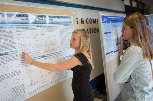 Aleah Bond '14 explains her research in chemistry