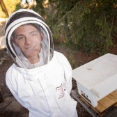 Daniel Erickson and the new bee hive