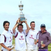 • Mike Esparza, Carey Osimo, Tony Uretz and Coach John Westley (courtesy Santa Barbara Polo School)