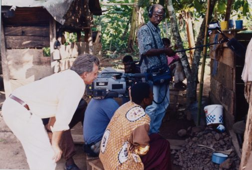 Ault and his crew in Ghana