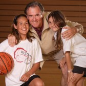 John Moore with daughters Jacqueline and Jessie in 2007