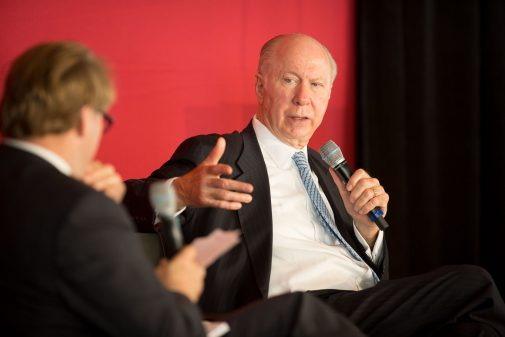 President Gayle D. Beebe and David Gergen
